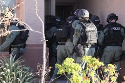 HSI Special Response Team (SRT) drug raid during Operation Pipeline in Arizona.