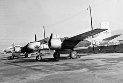 B-26C of the 115th Light Bombardment Squadron, Van Nuys Airport, 1950.