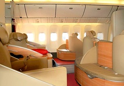La Première seats on one of Air France's Boeing 777-300ERs