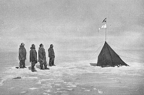 Norwegian flag at the South Pole