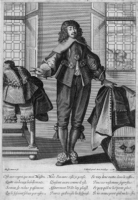 Valet de Chambre from a series of etchings of trades, Les Metiers 1635