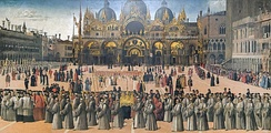 Procession in St Mark's Square by Gentile Bellini in 1496