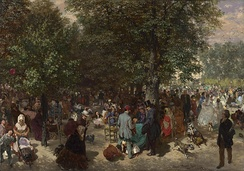 Afternoon at the Tuileries Park by Adolph von Menzel