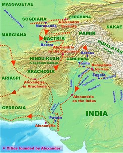 Alexander's invasion of the Indian subcontinent.