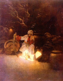 """Ali Baba"" by Maxfield Parrish."