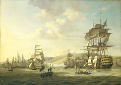 The Bombardment of Algiers by the Anglo-Dutch fleet in 1816 to support the ultimatum to release European slaves
