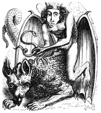 Astaroth illustration from the Dictionnaire Infernal (1818)