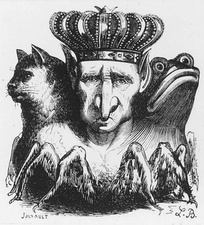 Dictionnaire Infernal illustration of Bael.