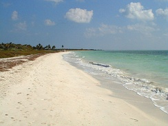 The beach at Bahia Honda in the Florida Keys
