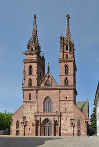 Basel Minster, built between 1019 and 1500