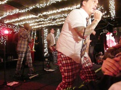 The Bosstones in trademark plaid.
