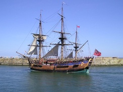 Endeavour replica in 2000