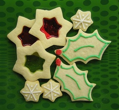 Modern Canadian and American style Christmas cookies