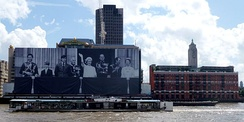 Sea Containers House decorated for Queen Elizabeth II's Diamond Jubilee.