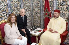 King Mohammed VI of Morocco (on the right)