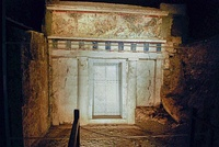 The tomb of Philip II of Macedon at the Museum of the Royal Tombs in Vergina