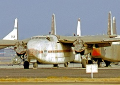 Fairchild C-82A N53228 painted in the markings of the fictional Arabco Oil Company for the film The Flight of the Phoenix