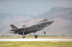 The first 388th Fighter Wing F-35A Lightning II touches down at Hill AFB