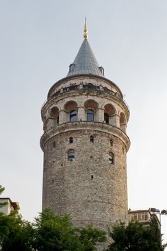 Galata Tower, the Romanesque style tower was built as Christea Turris (Tower of Christ) in 1348 during an expansion of the Genoese colony in Constantinople