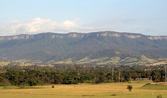 An early morning view of the Illawarra escarpment west of Albion Park (20 km south of Wollongong)