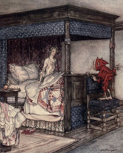 Illustration by Arthur Rackham to Young Bekie.