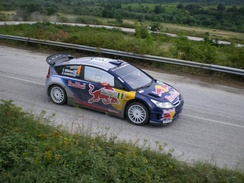 The Citroën rally car, which won the manufacturers' title in 2008, 2009 and 2010.