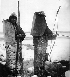 Late lamellar armour worn by indigenous peoples of Siberia
