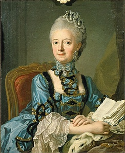Louisa Ulrika of Prussia by Lorens Pasch the Younger.