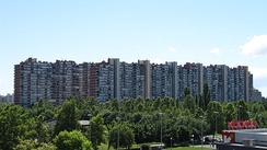 Mamutica in East Novi Zagreb city district (Travno local committee area), an apartment complex built in 1974 as the Croatian version of the plattenbau, largest building (by volume) in Zagreb and in Croatia