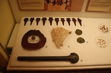 Mace shaped copper headdress ornaments from Moundville