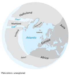 Map showing the extent of the Norse world