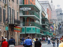 Bourbon Street, New Orleans, in 2003, looking towards Canal Street