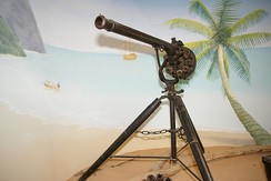 Replica Puckle Gun from Bucklers Hard Maritime Museum.