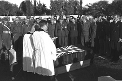 The funeral of a Royal Air Force pilot killed during a clash with the Israeli Air Force.