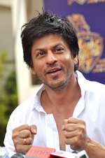 "Shah Rukh Khan, one of the ""Three Khans"", in 2012. He was the most successful Indian actor for most of the 1990s and 2000s.[83]"