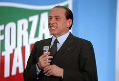 Silvio Berlusconi during a meeting in May 1994.