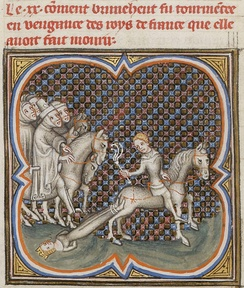 Brunhilde is dragged to her death
