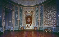 The Throne Room is where foreign ambassadors present their credentials to the Queen.