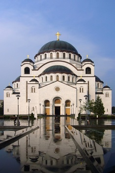Cathedral of Saint Sava, one of the largest Orthodox buildings in the world, being built continuously since the end of the 1980s on the site where the relics of Saint Sava were desecrated by the Ottomans