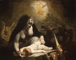 The Night-Hag Visiting Lapland Witches, Henry Fuseli (1796)