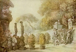 Entrance to Vauxhall Gardens by Thomas Rowlandson