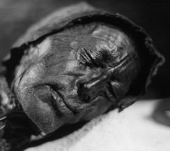 The Tollund Man of the 4th century BCE is one of the best studied examples of a bog body. Such bodies are often the remains of Germanic invidivuals subjected to capital punishment.