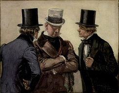 Traddles, Micawber and David from David Copperfield, by Frank Reynolds