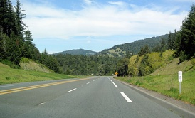 US 101 in Mendocino County