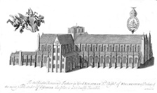 A 1723 engraving of Winchester Cathedral