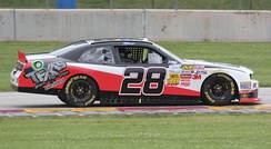 Yeley's No. 28 for JGL Racing in the Xfinity Series in 2014