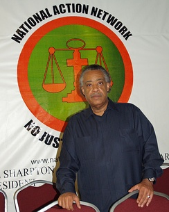 Al Sharpton at National Action Network's headquarters