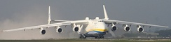 The An-225 Mriya, which can carry a 250-tonne payload, has two vertical stabilizers.