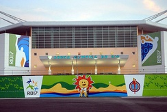 Exterior view of the Rio Olympic Arena during the 2007 Pan American Games.