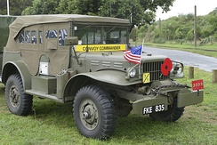 Contrary to the jeep, the Dodge command cars' soft-top included canvas sides (WC-57 with winch).
